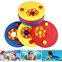 Flotador de brazos para niños, flotadores de espuma de 6 piezas Discos para niños Bandas de brazo flotante para nadar…
