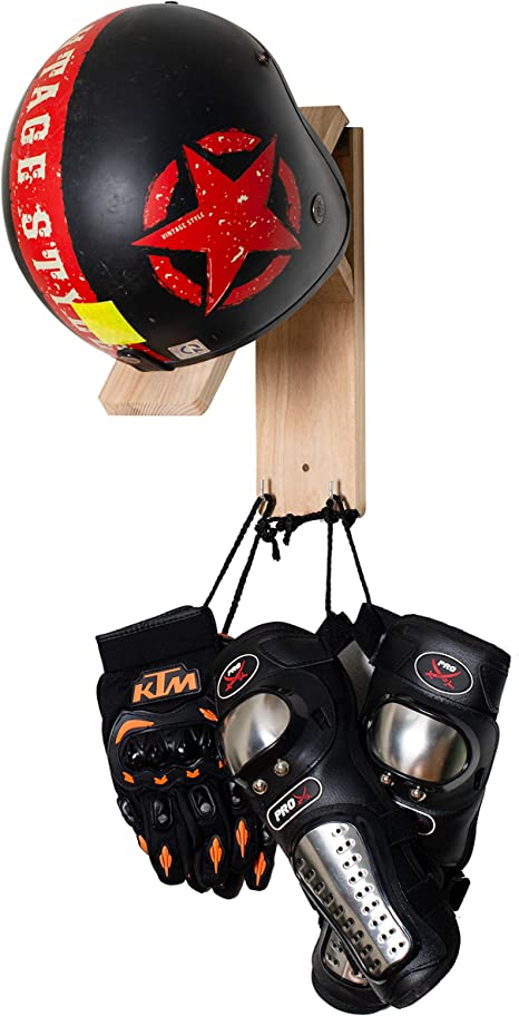 2Pcs Motorcycle Helmet Holder Hook Jacket Bags Wall Mount Display Rack Hanger LS