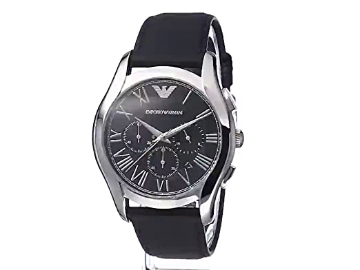 Amazon.com: Emporio Armani Mens AR1700 Dress Black Leather Watch: Armani: Watches