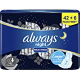 Always Clean & Dry Maxi Thick, Night sanitary pads, 48 pads