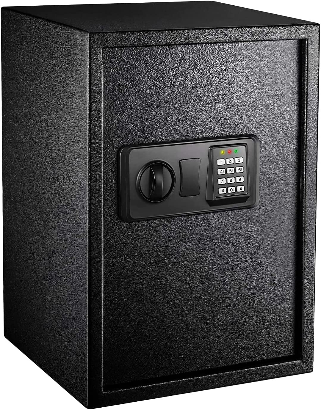 Safe Box 1.8 Cubic Feet Home Safe Digital Lock Box with Instruction Light for Money Safe Cash Jewelry Passport Documents Gun Security-50SA