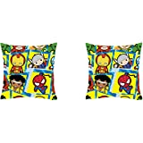 """Marvel Kawaii Officially Licenced 2 Piece Stretch Polyester Cushion Cover Set - 16""""x16"""", Multicolour"""