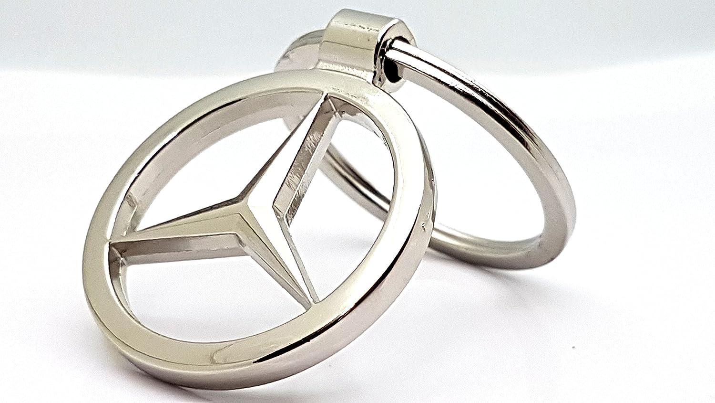 gift4all Mercedes Benz Car Logo Metal Keyring Simple Style Key Fob Keychain High Quality [S1] c2c