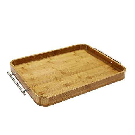 3523f51831 Amazon.com: MyGift Large Bamboo Breakfast Butler Serving Tray ...