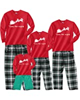 Footsteps Clothing Santa's Sleigh 'Twas The Night Red Family Adult Pajamas & Kids Playwear - Adults, Kids, Baby