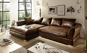 Sofa Couch Wohnlandschaft Wildlederoptik Anna L Form Rana Collection