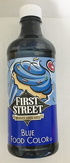 Amazon.com : Blue Food Coloring by First Street Brand, 16 Ounce ...