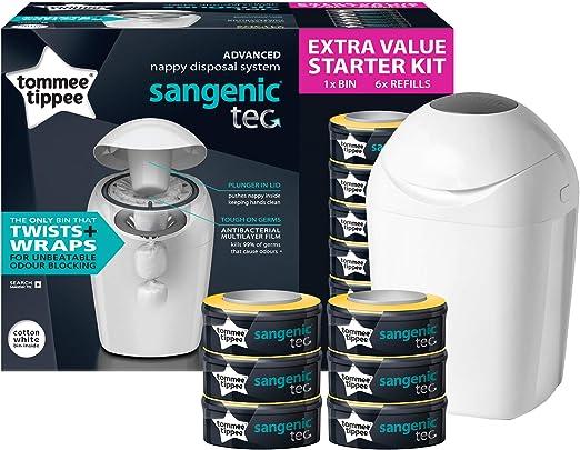 Tommee Tippee Sangenic Tec - Set básico de contenedor de pañales, con 6 recambios: Amazon.es: Bebé