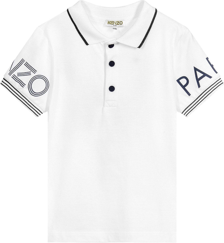 Kenzo Camiseta con Estampado de Logotipo Kids White 6 Years ...