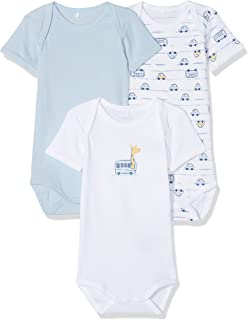 073819738 Name It Baby Boys  Nbmbody Wrap Ss Ensign Blue Noos Footies  Amazon ...