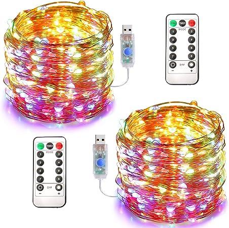 Fairy Wire Lights Timer Indoor Outdoor Garden Waterproof String Light 10 Colors