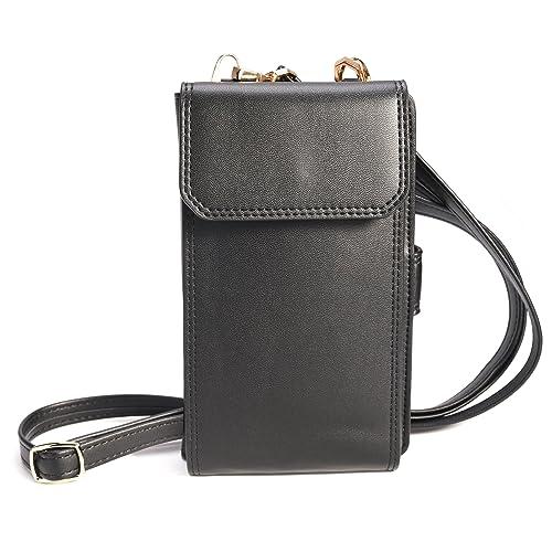 e89b584cc3 Crossbody Wallet Pouch Purse Shoulder Bag Messenger Bag Cell Phone Bag PU  Leather Multipurpose Wallet Case