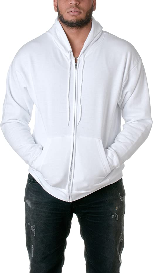 Hanes Mens NEW Size S-3XL Full Zip Hooded Sweatshirt Jumper Hoodie 50//50