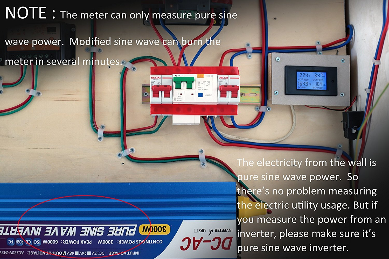 HiLetgo DC6.5-100V 0~20A LCD Voltage Current Power Energy Meter Multi Ammeter Voltmeter