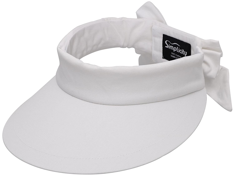 UV Protection Wide Brim Beach Sun Visor Hat Black 88-B16040018-BLK Simplicity Womens SPF 50