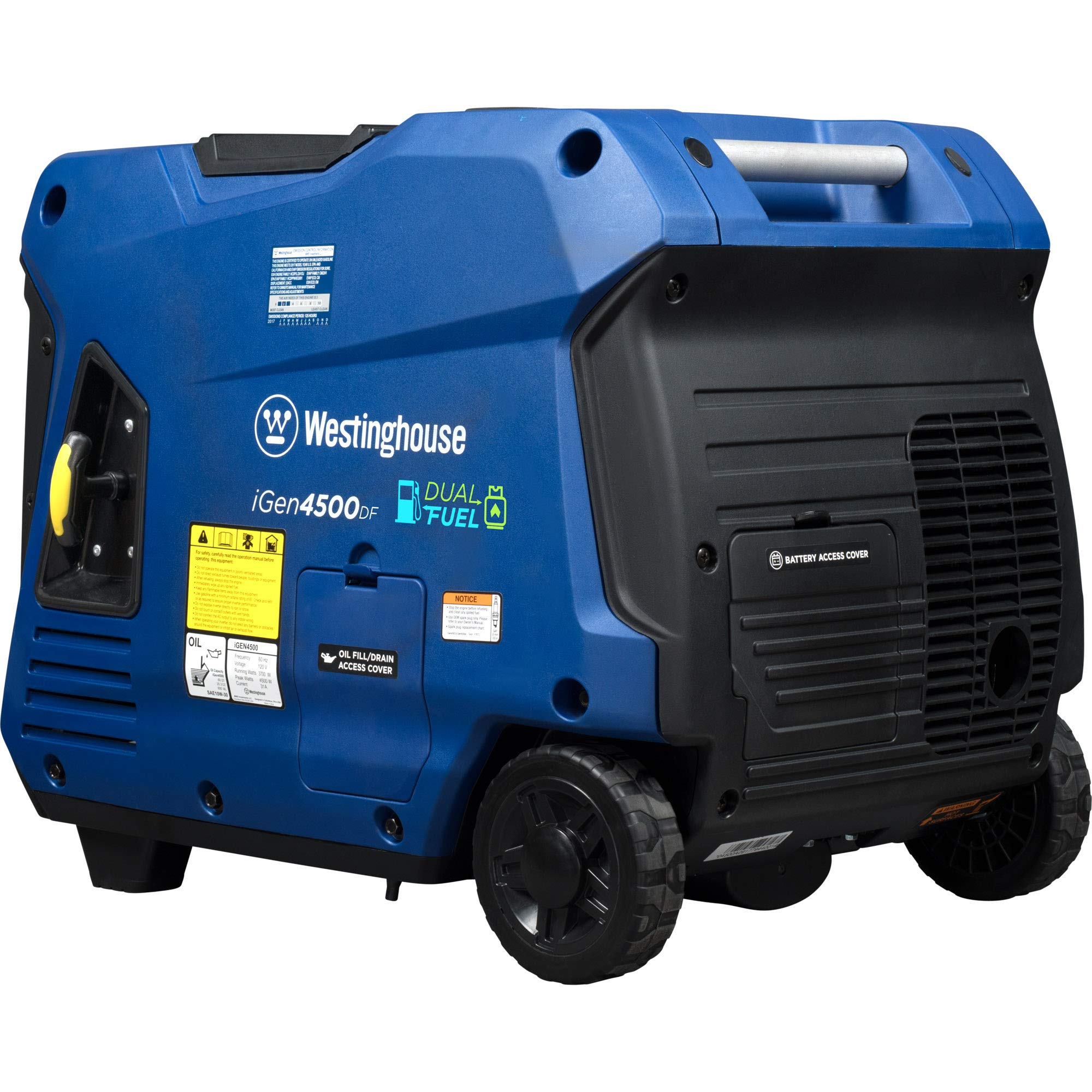 Westinghouse iGen4500DF Dual Fuel Inverter Generator - 3700 Rated Watts & 4500 Peak Watts - Gas &Propane Powered - Electric Start - CARB Compliant by Westinghouse (Image #2)