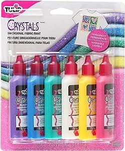 Tulip Washable Crystals 3D Fabric Paint Set, Multicolor