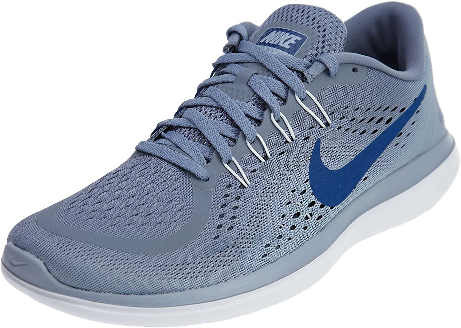 Nike Men s Flex RN 2017 Running Shoe Dark Sky Blue Gym Blue Glacier Grey Size