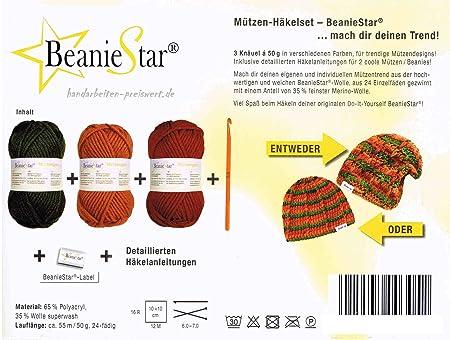 Häkelset 3x 50 Gramm Mützenwolle Mütze Beanie Boshi Selber Häkeln