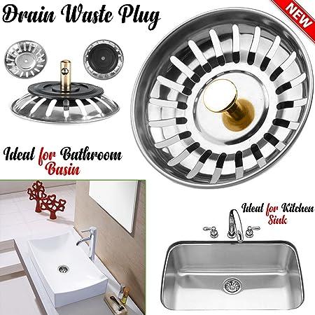 Kitchen Sink Strainer 78MM Premium Stainless Steel Waste Plug ...