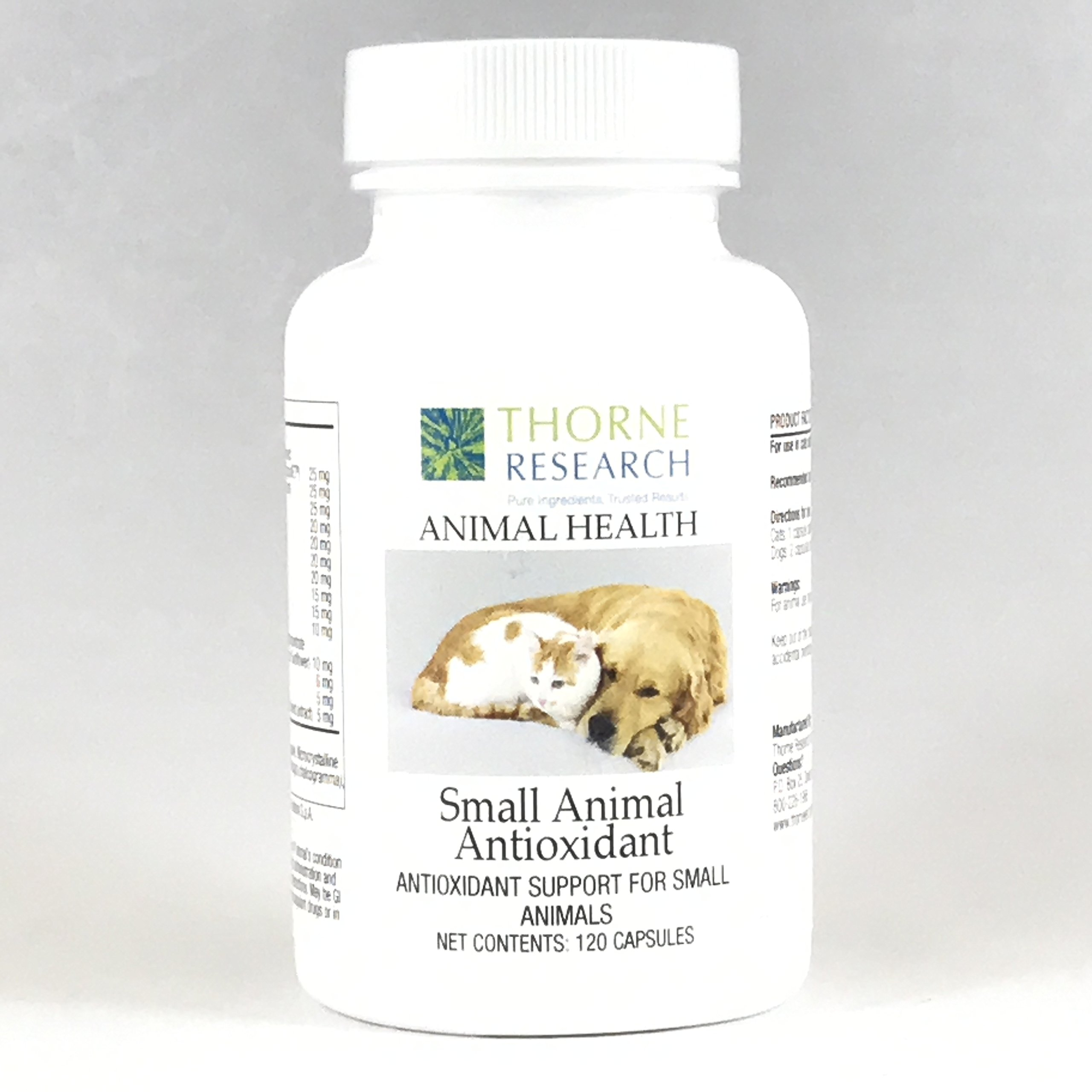 Thorne Research Veterinary - Small Animal Antioxidant - Antioxidant Support for Small Animals - 120 Capsules