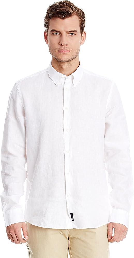 McGregor Camisa Hombre Lin Lino Blanco 3XL: Amazon.es: Ropa y accesorios