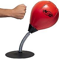 NSG - Juego de Boxeo de computadora para aliviar el estrés, Saco de Boxeo para computadora de Oficina y hogar, Color Negro y Rojo