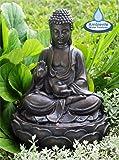 Fuente de Agua decorativa en forma de Buda. Color Marrón.