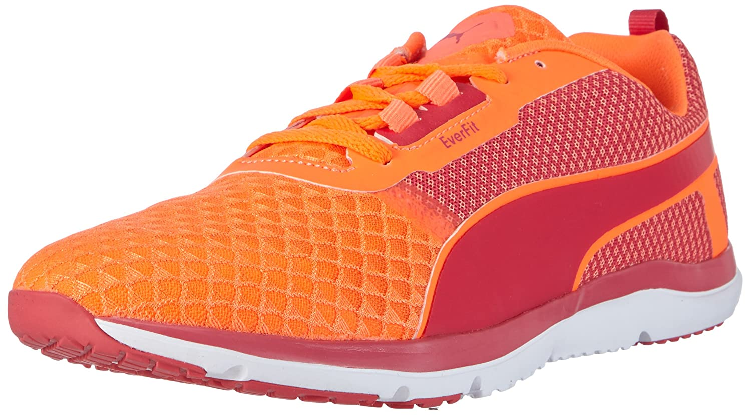 Puma Pulse Flex XT Core WNS Damen Hallenschuhe  40 EU|Orange (Fluo Peach-rose Red-white 01)