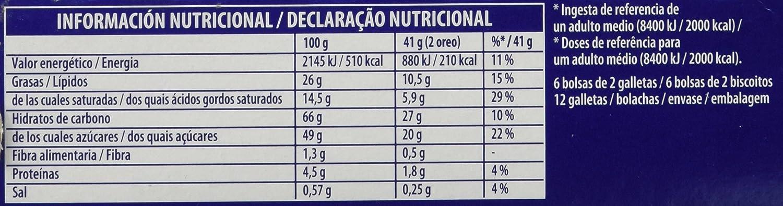 Oreo Bañadas - Galletas Cubierto de Chocolate Blanco - 6 bolsas de 2 galletas: Amazon.es: Alimentación y bebidas