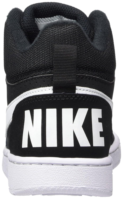Nike Unisex Kids' Court Borough Mid (GS) Basketball Shoes, Black (Black/ White), 6 UK 40 EU: Amazon.co.uk: Shoes & Bags