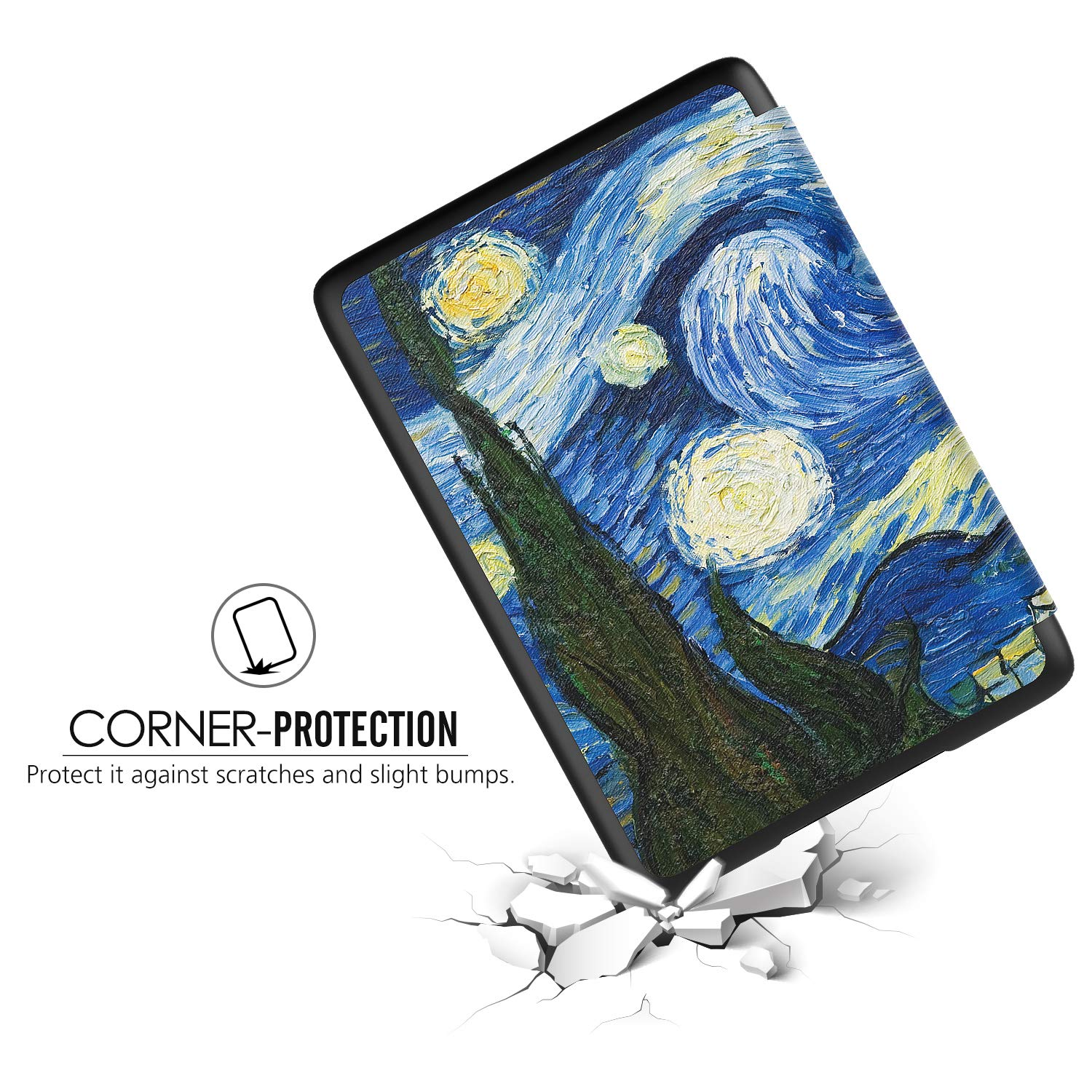 TiMOVO Case for Kindle Paperwhite Black - Slim lightweight PU Leather Smart Cover with Auto Wake//Sleep Function for  Kindle Paperwhite E-Reader 10th Generation, 2018 Release