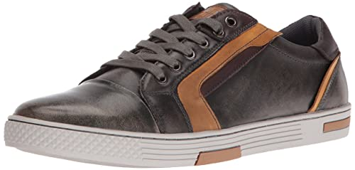 6d8a96d505b Steve Madden Men's Adison Fashion Sneaker, Grey Leather, 9.5 M US ...