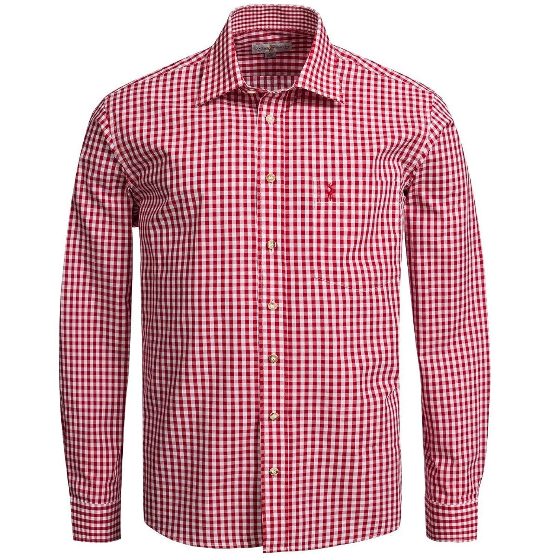 Trachtenhemd Regular Fit in Rot von Almsach