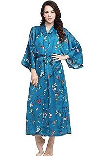 970d564f32 ArtiDeco Women s Kimono Dressing Gown Satin Kimono Robe Long Chinese  Japanese Style for Nightwear Girl s Bonding