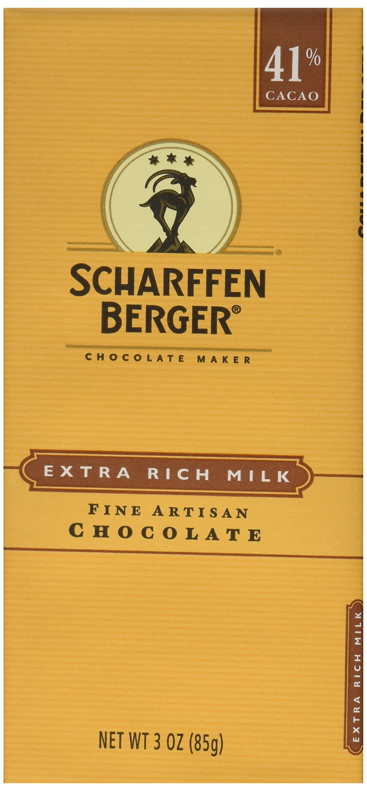 Scharffen Berger, Milk Chocolate Bar 41%, 3 oz by Scharffen Berger