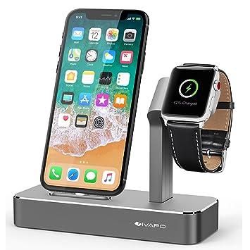 Aluminio Aleación Soporte para Apple Watch y iPhone, iVAPO ...