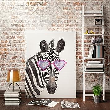 Wunderbar Ufengke® Cartoon Tiere Zebra Ölgemälde Malerei Drucke Auf Leinwand Gemälde  Für Wandkunst Kinderzimmer Hauptdekoration Gestreckt