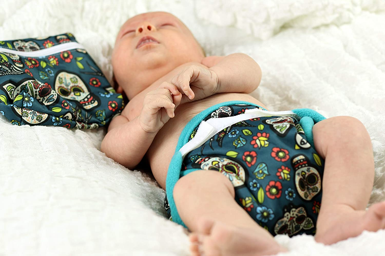Petit Lulu Diaper Wrap 3 Sizes Reusable /& Washable Hook /& Loop Waterproof White, One Size Made in Europe
