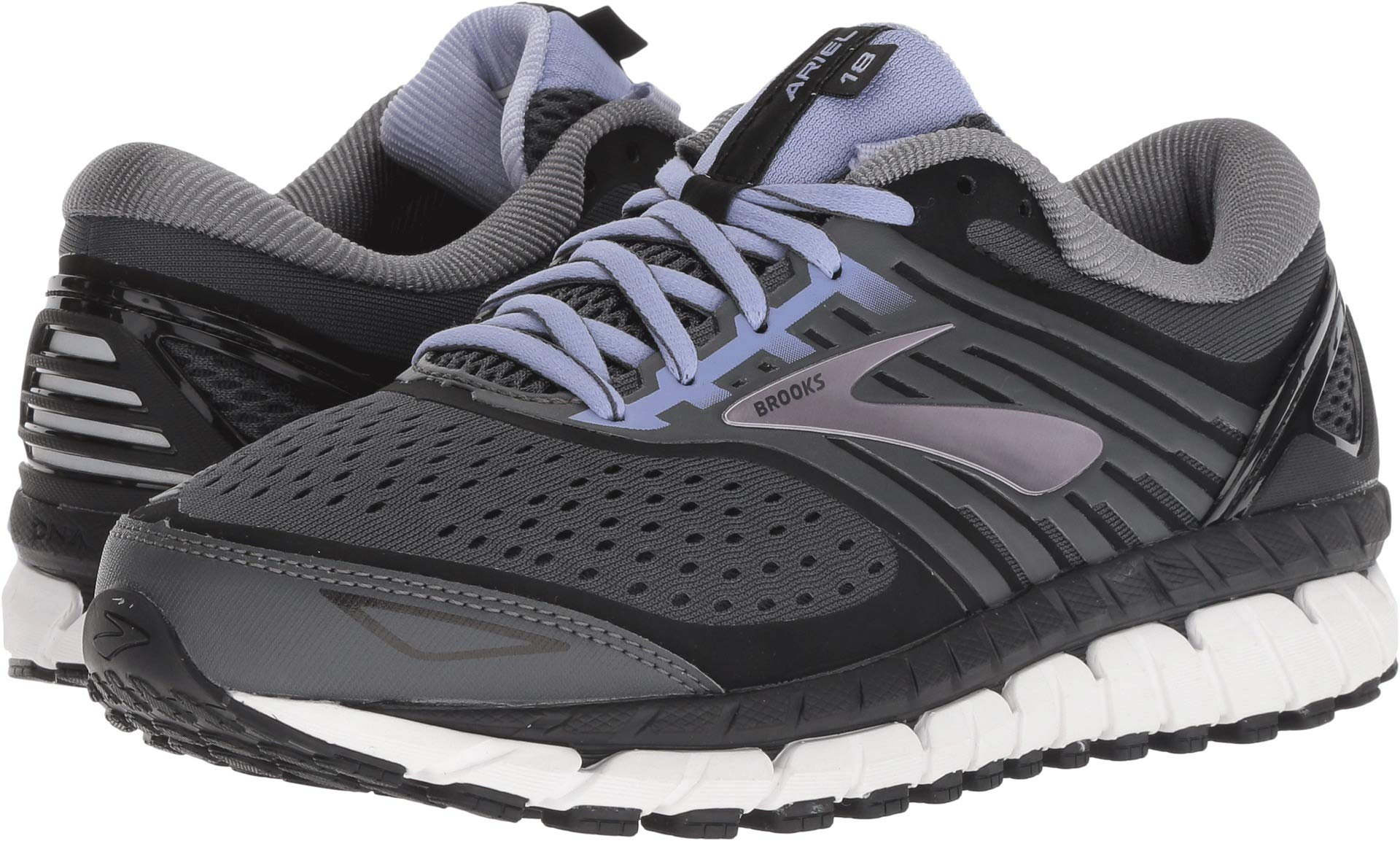 Brooks Women's Ariel '18 Ebony/Black/Thistle 9 B US by Brooks