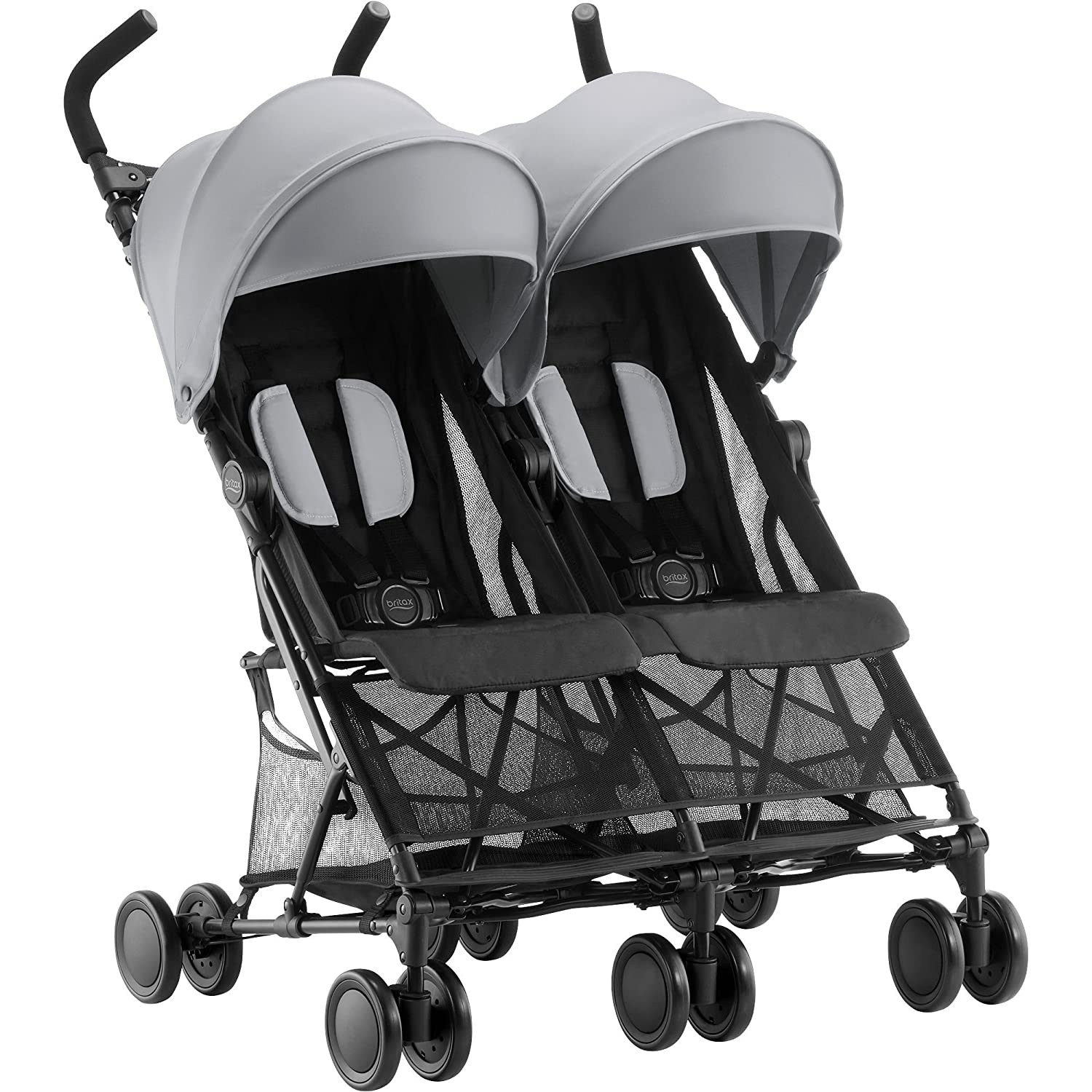 Britax Holiday Double - Silla de paseo gemelar, color Steel Grey