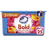 Bold 3-in-1 Pods with a Touch of Lenor Long Lasting Freshness,25 Washes, Sparkling Bloom and Yellow Poppy Washing Capsules