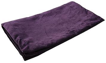 McAlister Matt Velvet | Decorative Bed Runner Scarf | 20x95 Aubergine  Eggplant Plum Purple | Lush