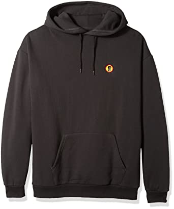 e08b2728 Brixton Men's Fang Relaxed Standard Fit Hood Fleece Sweatshirt, Washed  Black, ...