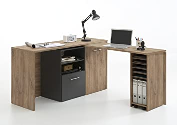 Amazon De Sideboard Schreibtisch Computer Kommode Liam In