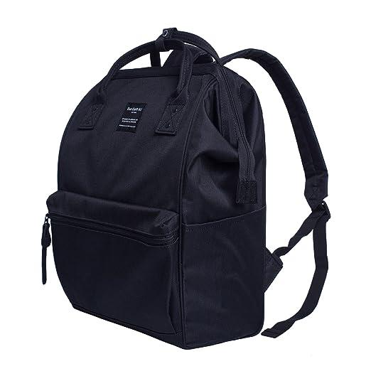 e6c422d8b181 Canvas School Backpack, Waterproof College Laptop Bookbag, Wide Opening  Large Capacity Big Student Bag