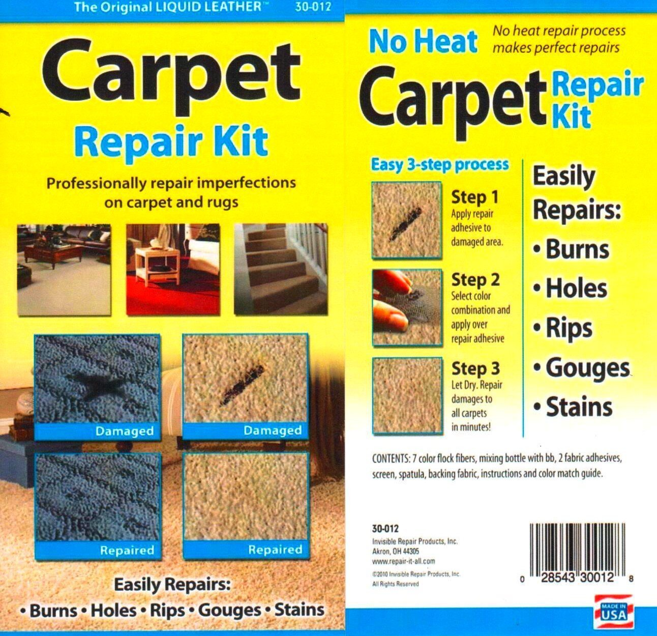 Amazon Com Liquid Leather Quick 20 Carpet Repair Kit