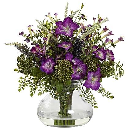Amazon large mixed morning glory silk flower arrangement w large mixed morning glory silk flower arrangement w vase mightylinksfo