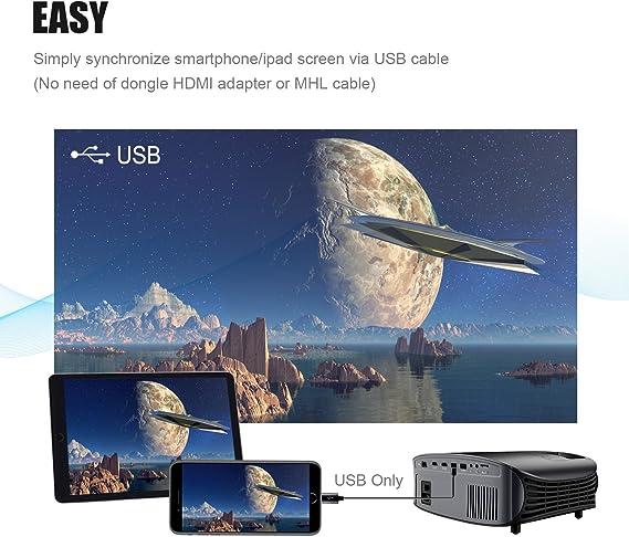 Proyector HD, BeamerKing LED Proyector Video Portátil 3500 Lúmenes ...