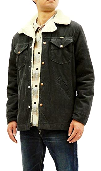 2b4f8045 Wrangler Men's Corduroy Sherpa Jacket Western Rancher Shearling Coat WM1870  Charcoal Grey Japan XL (US
